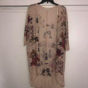 Flower cardigan- 3/4 sleeve